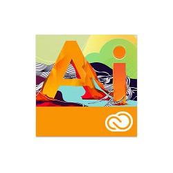 Adobe ILLustrator Creative Cloud dla Szkół 1 PC na 1 rok - NOWA